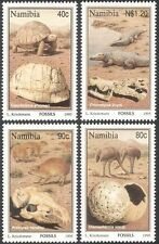 Namibia 1995 Fossils/Tortoise/Crocodiles/Birds/Reptiles/Animals 4v set (b1381)