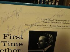signed LEONARD PENNARIO Rhapsody on them of Paganini RCA LM-2678 AUTOGRAPH VG++
