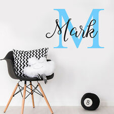 ANY NAME Customise Initial & Baby Name Nursery Removable Sticker Vinyl Decal