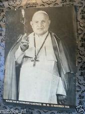 1958 KATHOLIEKE ILLUSTRATIE BIJLAGE POPE JOANNES XXIII INSTALLATIE,KRONING