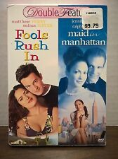 Fools Rush In Maid In Manhattan 2006 2 Disc DVD Set NEW with slipcase