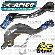 Apico Black Blue Rear Brake & Gear Pedal Lever For Yamaha YZ 450F 2008 Motocross