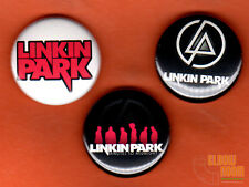 "Set of three 1"" Linkin Park pins/buttons band rock alternative lincoln"