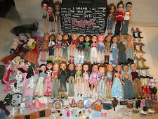 Huge LOT 32 Fully Dressed Bratz Dolls Boys Case Clothing Shoes 145 Accessories