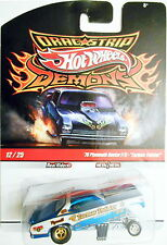 2009 HOT WHEELS DRAG STRIP DEMONS '70 PLYMOUTH DUSTER F/C-TARMAC TWISTER 12/25