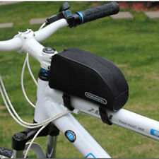 New Black Bike Bicycle Frame Pannier Front Pouch Cycling Tube Bag