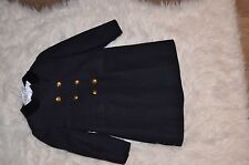 Bonpoint girls dark blue military style coat 4T