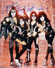 KISS Band Signed Autographed 16x20 Photo Gene Simmons P Stanley t Thayer SInger