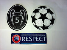 UEFA CHAMPIONS LEAGUE  BARCELONA & MUNICH SET OF PATCHES BADGES PARCHES