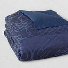 $620! NEW Hudson Park Luxe Flourish Blue Silk KING Duvet Cover - GORGEOUS!
