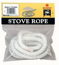 Hotspot 12mm  x 1.5m Pre-Cut Glass Fibre Stove Rope For Sealing Stoves and Fires