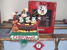 MIDWEST Cast Iron Disney MICKEY & FRIENDS Xmas STOCKING HOLDER Hanger in BOX