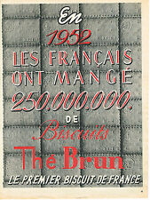 PUBLICITE ADVERTISING 014   1954   THE BRUN     biscuits