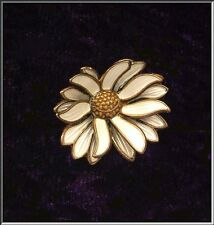 Gorgeous David Andersen Norway Sterling Enamel Dimensional Daisy Brooch