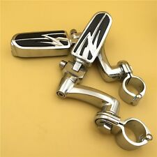 "Adjustable Lightning 1"" FootPeg For Honda GoldWing VTX1300 Shadow Valkyrie Chrom"