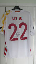 "SIGNED "" NOLITO - SPAIN "" 2016 AWAY Shirt (PROOF & COA)"
