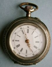 """Remontoir"" Antique Ladies Pocket Watch in Silver Hunter Case"