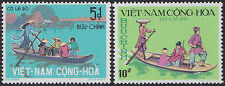 VIETNAM du SUD N°470/471** Barques, 1974 South Viet Nam 466-467 Sampan Ferry MNH
