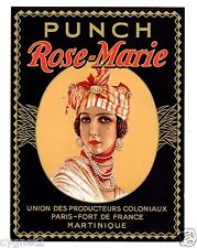LABEL RUM PUNCH ROSE-MARIE MARTINIQUE