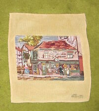 Dickens, The Old Curiosity Shop, needlepoint picture for pillow cover / framing.