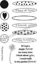 ART STAMPS A6 Clear Stamps BUILD A FLOWER PICS023 Marion Emberson THANK YOU Wish