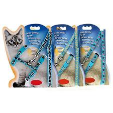Katzen Leinen Katzenleine Katzengeschirr Sicherheitsgurt Nylon Blau 125cm