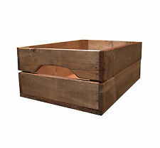 Shallow Rustic Farmhouse Wooden Apple Crate Storage Box from Crates4You