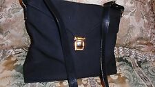 Paloma Picasso Black Canvas & Leather trim Shoulder Cross body bag Handbag Purse