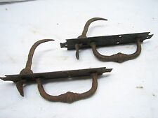 Antique Hand Forged Iron Door Handle Latch Pull Colonial Thumb Wrought