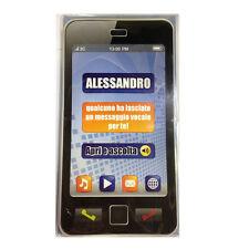 COMPLEANNO biglietto musicale a telefono squilla segreteria nome ALESSANDRO