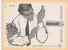PUBLICITE ADVERTISING 114 1958 BAN LON chemise nylon par Monchy
