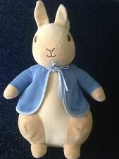 "BEATRIX POTTER -13"" PETER RABBIT - PLUSH  COMFORTER RATTLE TOY - AUGUSTA DE BAY"