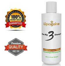 Lipogaine Big 3 Premium Hair Loss Regrowth shampoo for Men & Women - 1 Bottle
