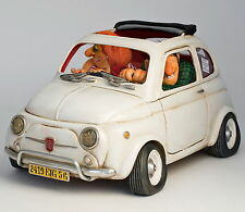 "Guillermo Forchino - Sculpture d'art comique - ""FIAT 500 - PETIT BIJOU"" -FO85065"
