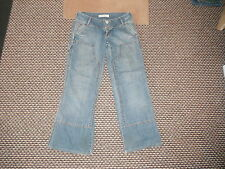 "Bench Relaxed Jeans Waist 28"" Leg 30"" Faded Medium Blue Ladies Jeans"