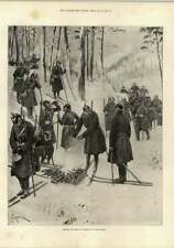 1897 German Infantry At Exercise On Snowshoes