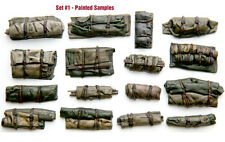 1/35 Scale resin kit Tents & Tarps Set  #1 Military model stowage