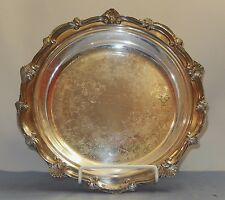 """VINTAGE W & S BLACKINTON FINE SILVERPLATE CHIPPENDALE 715 FOOTED 13"""" BOWL PLATE"""
