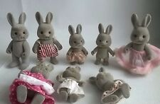 Vintage Forest Families Baerenwald Hasi Grey Rabbit Family RARE Sylvanian SPARES