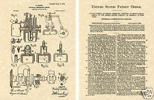 DIESEL ENGINE US PATENT 1898 Art Print READY TO FRAME!!!! - Rudolph Deisel