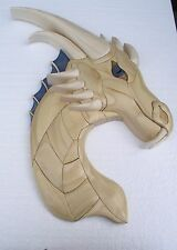 NEW   Intarsia wood pattern; DRAGON BLUE-EYED (Original)