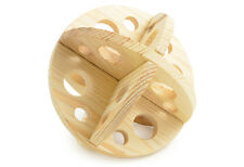 Ancol Small Animal Rabbit Guinea Pig Hamster Wooden Roll N Chew Ball Toy Game