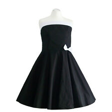 Rockabilly 1950'S Halter Neck Dress Petticoat Pin Up Party Cotton S/M 103-7
