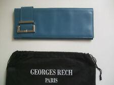 CLUTCH in Pelle Blu Georges Rech Blue Borsa Borsetta Tracolla Borsa Da Sera