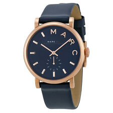 Marc by Marc Jacobs Baker Navy Leather Ladies Watch MBM1329