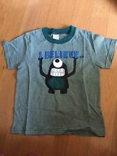 NWT~Gymboree SPACE VOYAGER I Believe green striped monster S/S shirt~2T