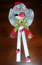 LADYBUG CORSAGES BABY SHOWER  BIRTHDAY FAVOR GIFT IN  COLD PORCELAIN HANDMADE