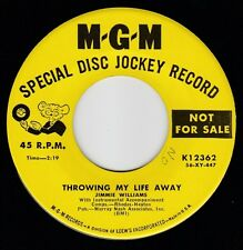 """COUNTRY SWING ~ JIMMIE WILLIAMS ~ MGM *PROMO* 12362 """"THROWING MY LIFE AWAY"""" 1957"""