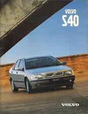 Volvo S40 1998-99 UK Market Sales Brochure 1.6 1.8 2.0 2.0T T4 1.9D