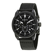 Bulova Chronograph Black Dial Mens Watch 98B280